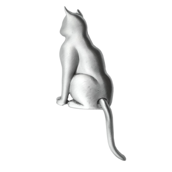 Cat Swinging Tail Pewter Pin 1043PP