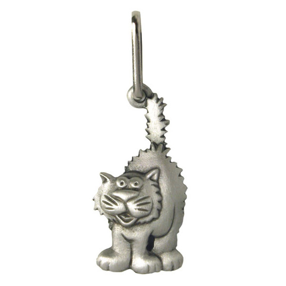 Feline Cat Pewter Zipper Pull 2688ZP