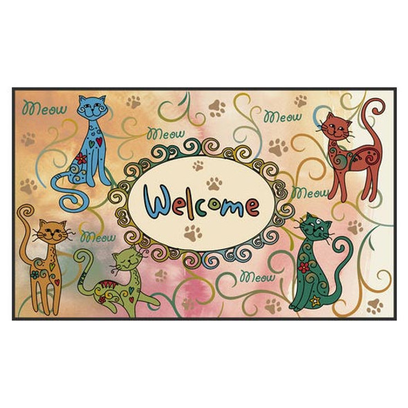 Meow Cat Welcome Floor Mat Door Mat - 800084
