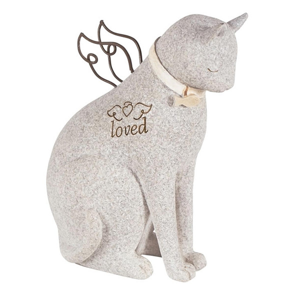 Loved Faithful Cat Angel Figurine 14212