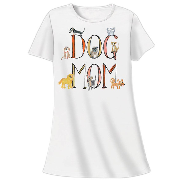 Dog Mom Theme Sleep Shirt Pajamas - 709OT