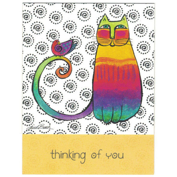 "Laurel Burch Small Card Blank - ""Thinking of You - Front"