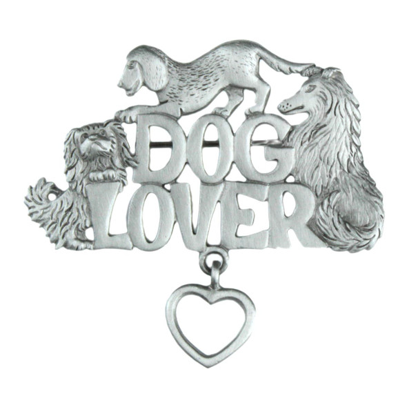 Dog Lover Pewter Pin - 1549PP