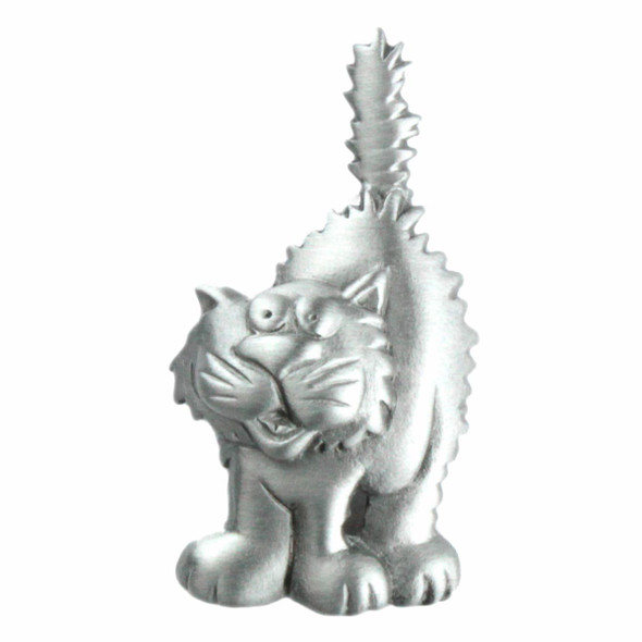 Funky Cat Lapel Clutch Pin Pewter - 1555CP