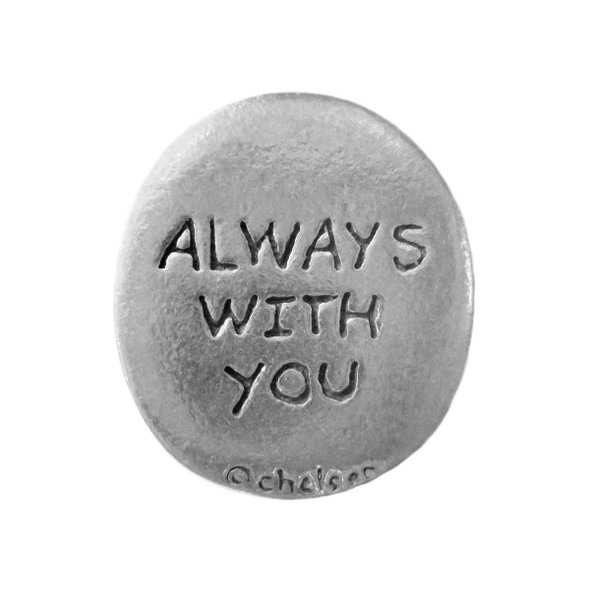 "Pewter Pocket Token Set of 3 ""Always With You"""