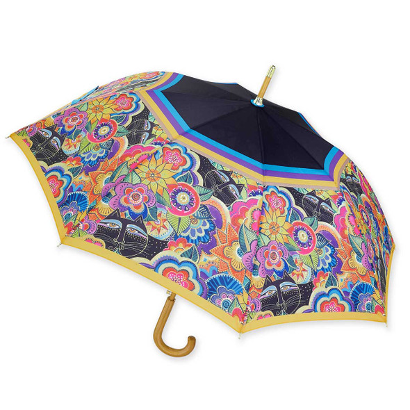 Laurel Burch Stick Umbrella Carlotta's Cats LBU009S