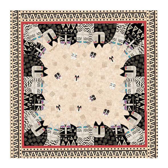 Laurel Burch Wild Cats Artistic Square Scarf LBSQ303