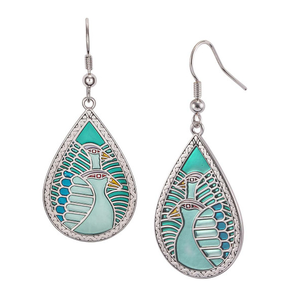 Dove Tears Laurel Burch Earrings Turquoise 5002