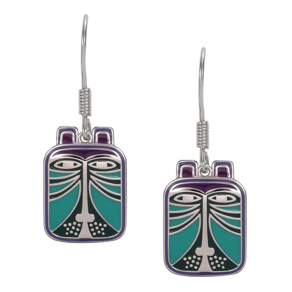 Toshio Cat Laurel Burch Earrings Blue 5005