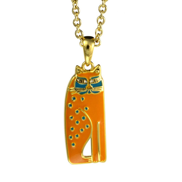 Siamese Cat Laurel Burch Necklace Mustard 5023