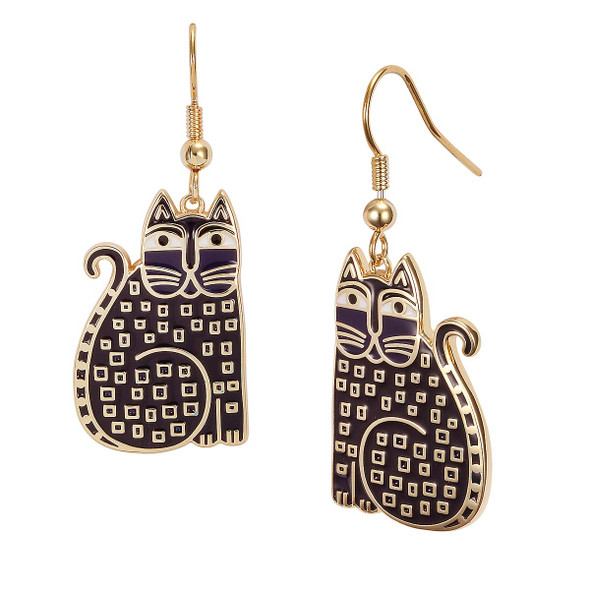 Indigo Cat Laurel Burch Earrings - 5029
