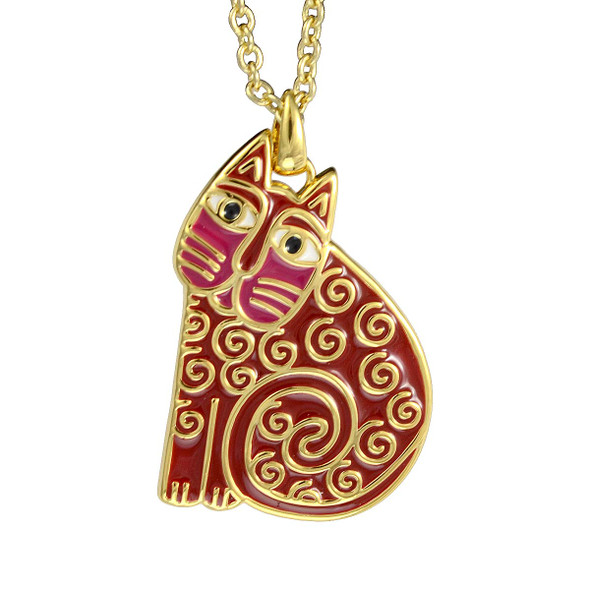 Jubilee Cat Laurel Burch Necklace Red 5036