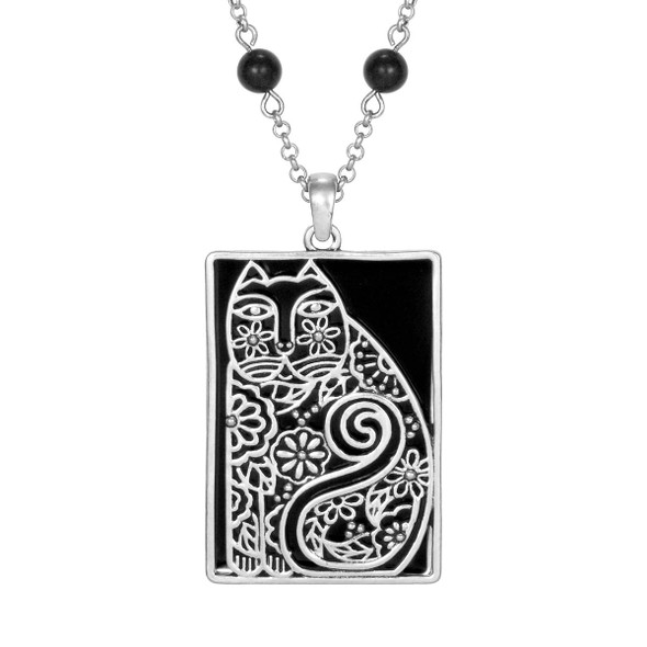 Elijah's Garden Laurel Burch Necklace Black 5046