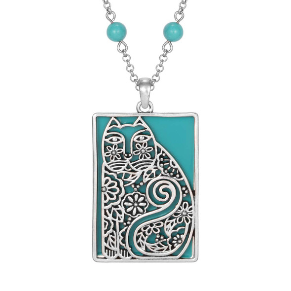 Elijah's Garden Laurel Burch Necklace Turquoise 5047