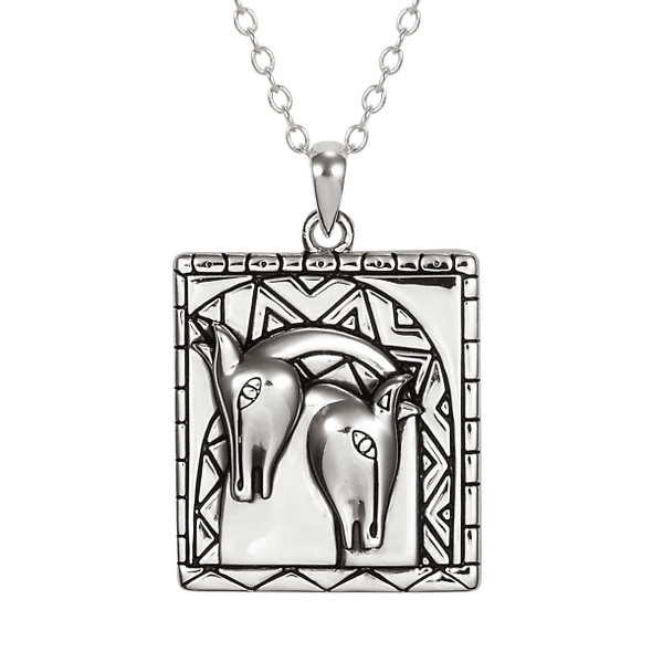Embracing Horses Laurel Burch Necklace 5056