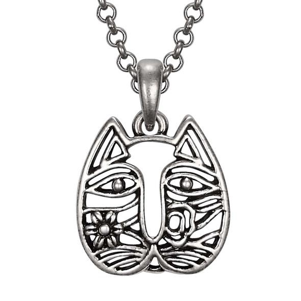 Cat Face Laurel Burch Necklace 5063