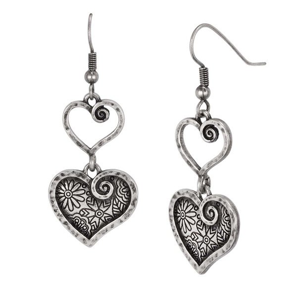Blooming Heart Laurel Burch Earrings 6093
