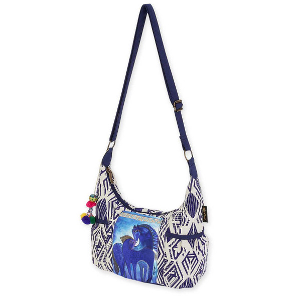 Laurel Burch Indigo Mares Med Scoop Crossbody Tote LB5592