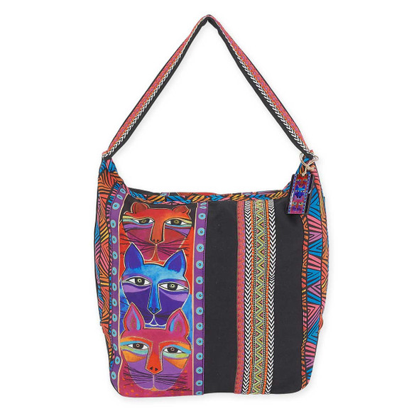 Laurel Burch Stacked Whiskered Cats Hobo LB5641