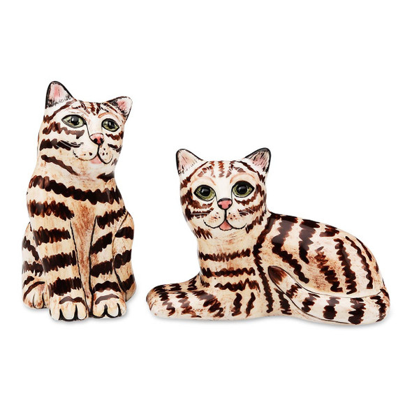 Brown Tabby Salt and Pepper Shakers 45521
