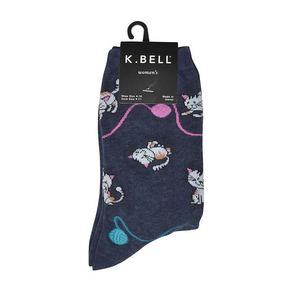 "Cat Socks ""Cat Yarn"" Denim KBWF15H101-01"