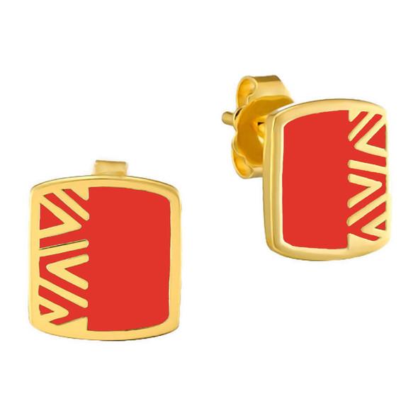 Rain Dance Post Laurel Burch Earrings Red - 6046