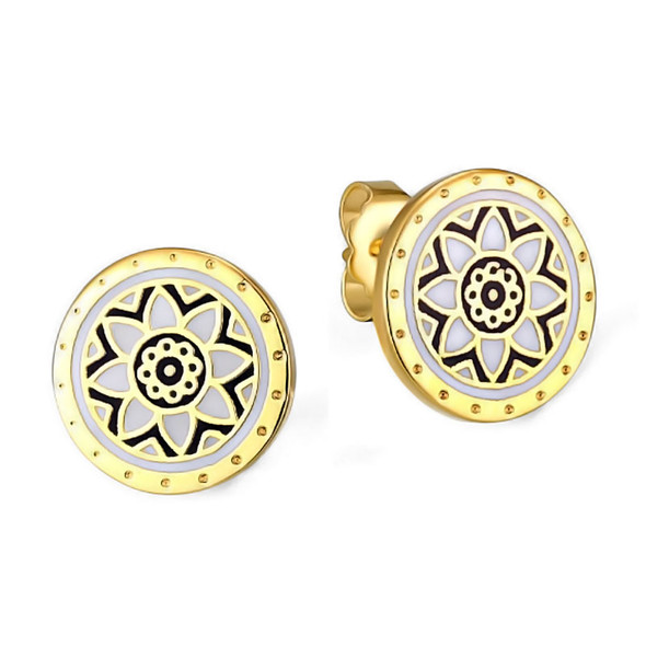Floret Post Laurel Burch Earrings Gold Tone - 6039