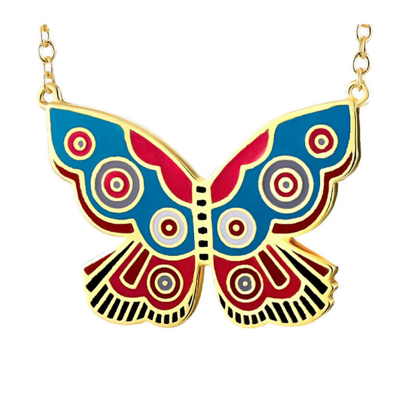 Summer Butterfly Laurel Burch Necklace - 5098