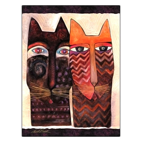 Laurel Burch Friendship Card Spend Nine Lives With You FRG17050
