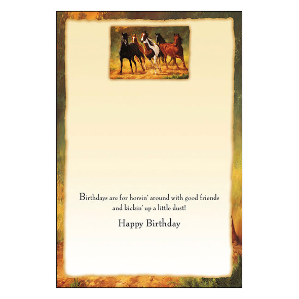 Horses Card Birthdays are for Horsin Around BDG14450