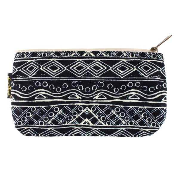 Laurel Burch 9x5 Cosmetic Bag Wild Cat Black White LB5804B