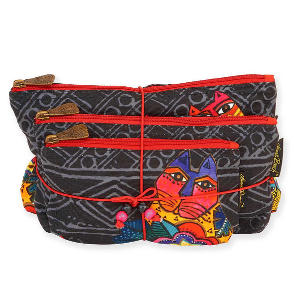 Laurel Burch Set of 3 Cosmetic Bag Mara Cat