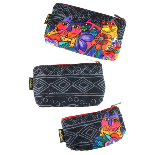 Laurel Burch Set of 3 Cosmetic Bag Mara Cat LB5854