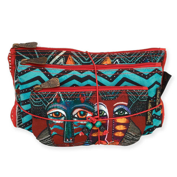 Laurel Burch Set of 3 Cosmetic Bag Gatos Cat