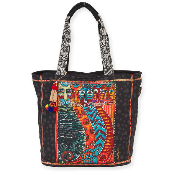 Laurel Burch Gatos Feline Cats Shoulder Tote