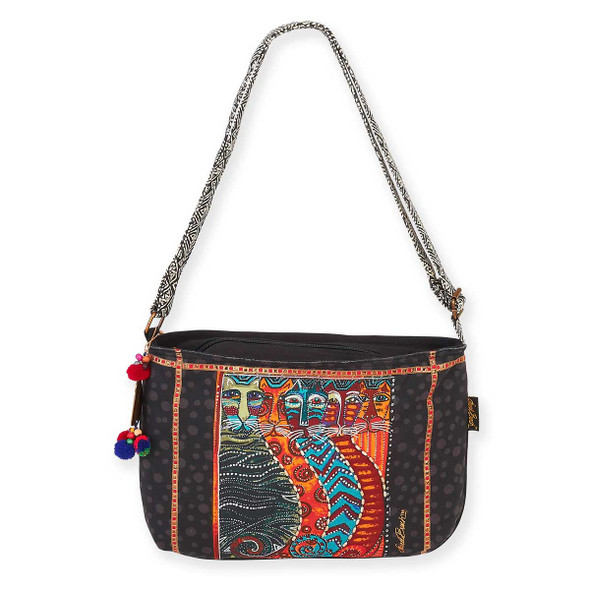 Laurel Burch Gatos Feline Cats Medium Crossbody Tote