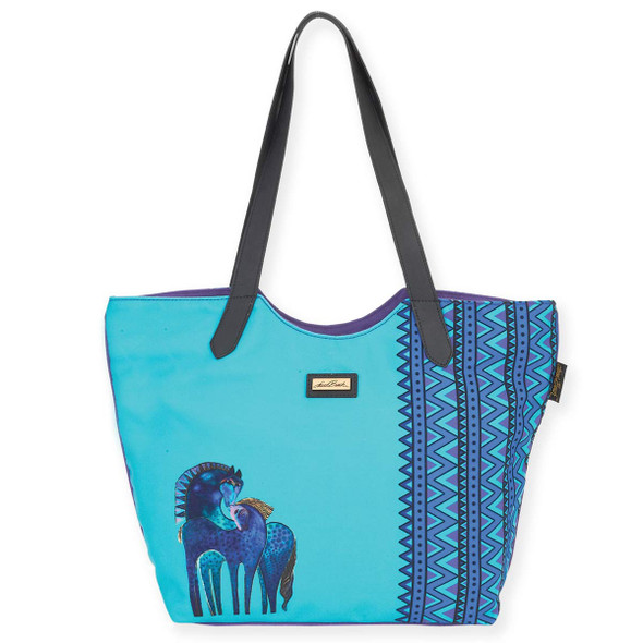 Laurel Burch Indigo Mares Scoop Shoulder Tote