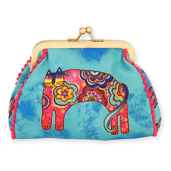 Laurel Burch Coin Purse Bohemian Whiskers