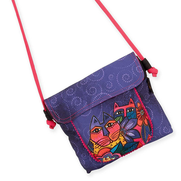 Laurel Burch Laurels Garden Flap Over Crossbody Tote