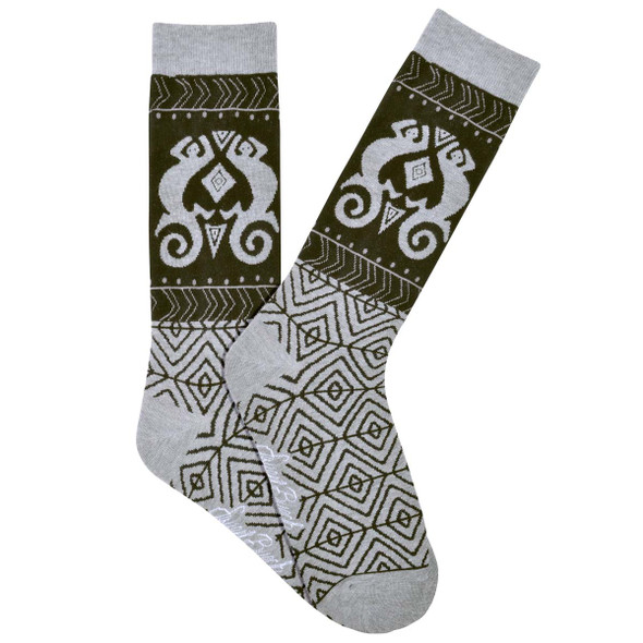 Men's Laurel Burch Lizard Shapes MENS Crew Socks - LBMS16H019-01