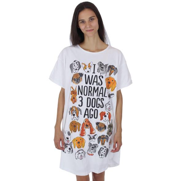 """Dog Theme Sleep Shirt Pajamas """"Normal 3 Dogs Ago"""" - 607OT"""