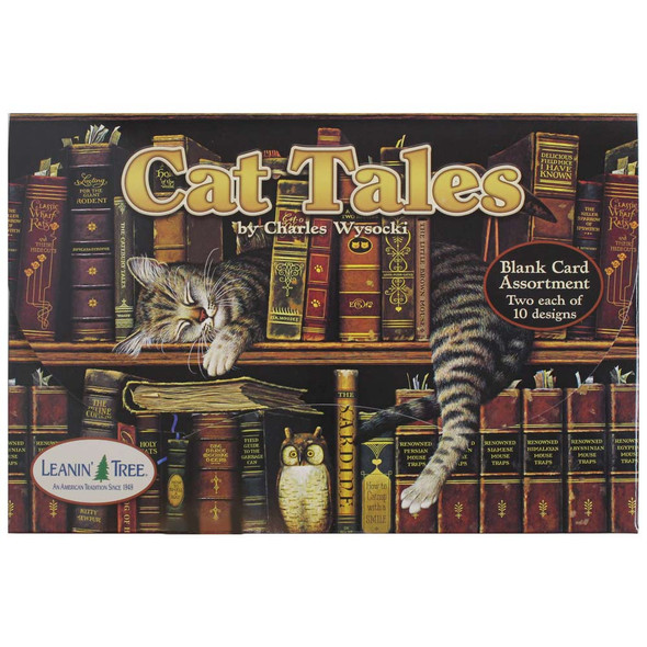 Charles Wysocki Cat Tales Greeting Card Assortment - 20 cards: Front View