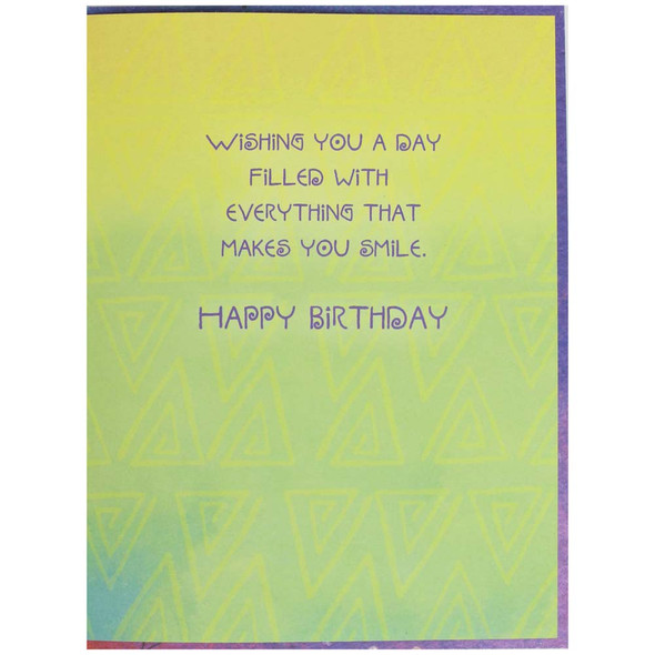 Laurel Burch Birthday Card - Wishing You a Day: Inside View