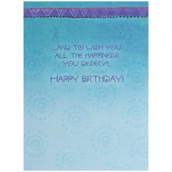 Laurel Burch Birthday Card - Blossoming: Inside View