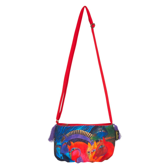 Laurel Burch Wild Horse Fire Crossbody Bag LB5552F