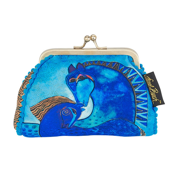 Laurel Burch Coin Purse Indigo Mares Horses LB5902G