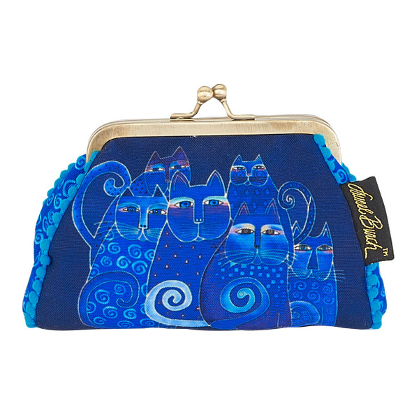Laurel Burch Coin Purse Indigo Cats LB5902H