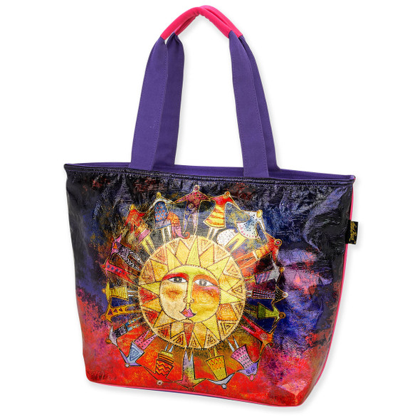 Laurel Burch Harmony Under Sun Foil Canvas Shoulder Tote - LB6260
