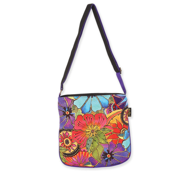 Laurel Burch Flora Canvas Crossbody Tote - LB6232