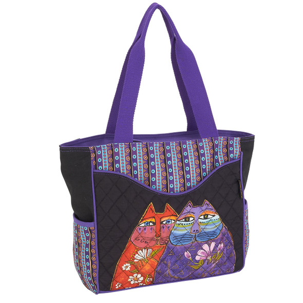 Laurel Burch Two Wishes Shoulder Tote - LB6000 Side